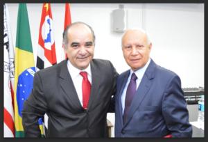 Pedro Napolitano, presidente da Subseção da Lapa e Celso Limongi, no último dia 21 de outubro de 2015
